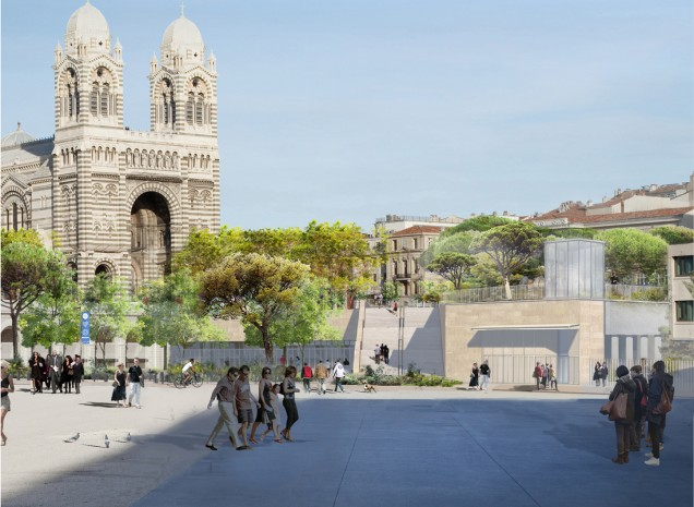Project for the Sainte-Marie-Majeure Cathedral and the Place Major