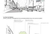La rue de Verdun, aujourd'hui / Le Cours de Verdun, demain