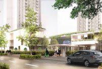 Rue du Maréchal Leclerc, de nouveaux logements, des halls d'accès reconfigurés au niveau de l'espace public et des parkings éclairés.