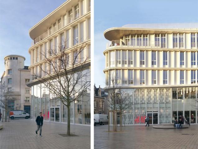 Depuis la Place du Général Leclerc, ouverture du magasin H&M